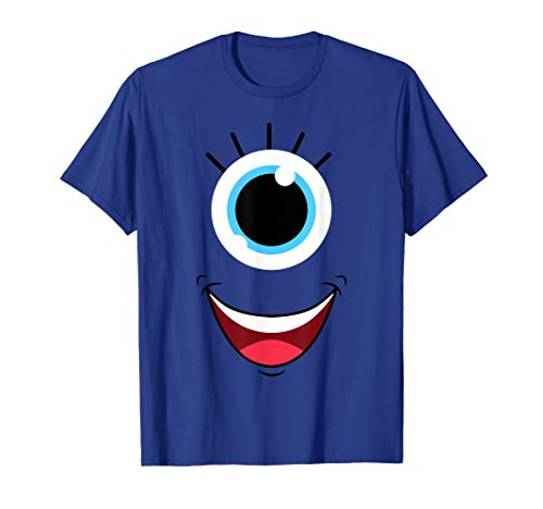 Funny Scary Monster Eyeball Face Halloween Costume T-Shirt -