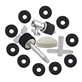 MagiDeal Drum Kit Parts Hi-hat Stand Screw+Drum Key+Cymbal Clutch+Pedal Beater Hammer Head+Cymbal Felt Pads