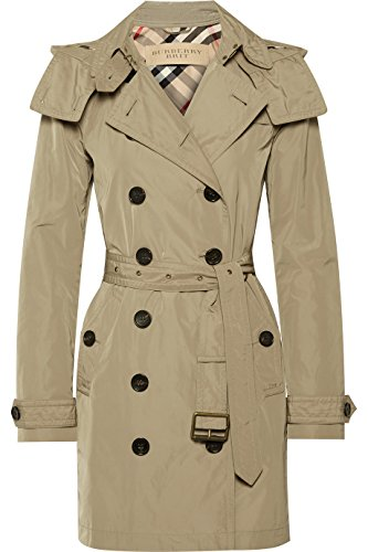 BURBERRY Woman's Balmoral Khaki Trench Coat US (Burberry Quilted Check)