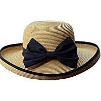 ZH mujeres paja sombrero de paja, verano Casual