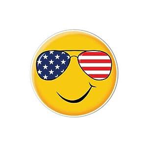 Smiley Face Sticker Patriotic Sunglasses Emoji Decal By Megan J Designs - Laptop Sticker Tumbler Decal Vinyl Sticker