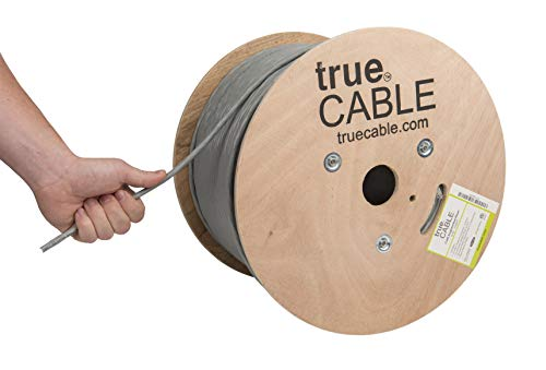 - Cat6A Riser (CMR), 1000ft, Gray, 23AWG 4 Pair Solid Bare Copper, 750MHz, ETL Listed, Unshielded Twisted Pair (UTP), Bulk Ethernet Cable, trueCABLE