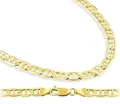 ac831a7ef9b8e Solid 14k Yellow Gold Bracelet Mariner Link 4.3mm 7.5 inches