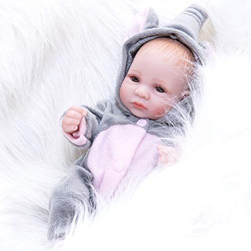 AFYH Rebirth Doll, Doll Simulation Baby - can take a Bath - Silicone Doll - Silicone Rubber, Child Growth Companion - Resistance to bite - Collection Art. by AFYH (Image #7)