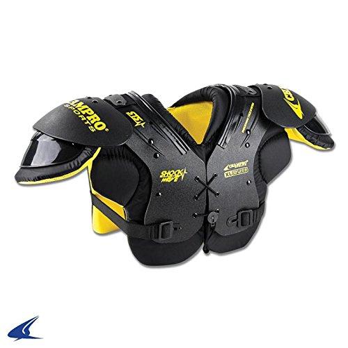 ChamproスポーツShock Wave肩パッド B00KIQ5KQA Champro Sports Shock Wave Shoulder Pad, Black, Under 40 lbs Black Black|Champro Sports Shock Wave Shoulder Pad, Black, Under 40 lbs