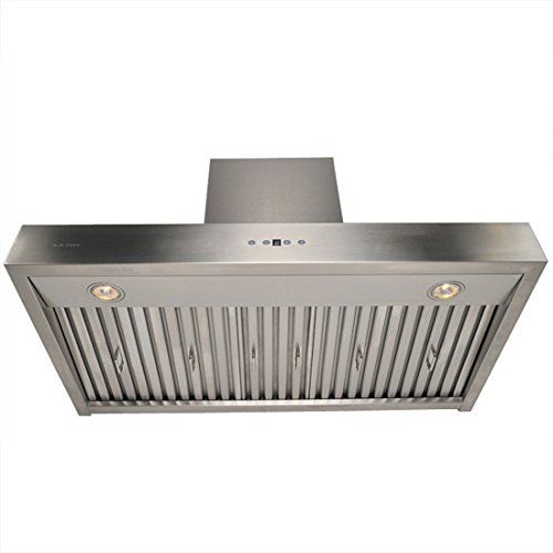 CAVALIERE AP238-PSZ-42 Wall Mounted Stainless Steel Kitchen Range Hood, 860 CFM, 42'' by CAVALIERE (Image #2)