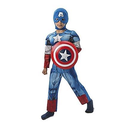 Rubies - Disfraz infantil, diseño Capitán América de Marvel, talla M (3610262)