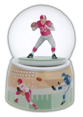 Beautiful Football Player With Double Layered Base Musical Water Globe -
