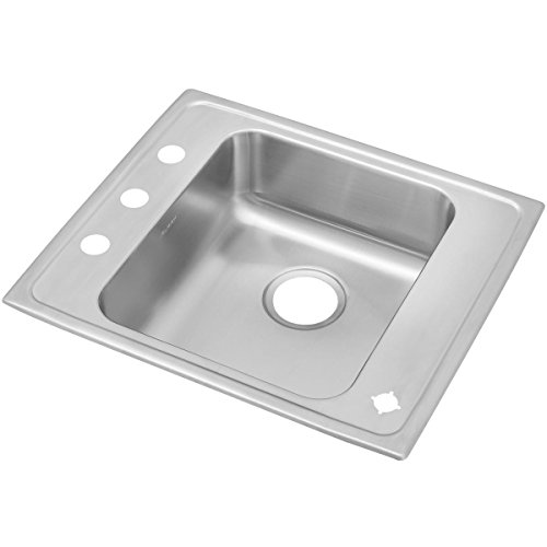 Elkay Classroom Single Bowl Sink (Elkay Lustertone DRKAD2220654 Single Bowl Top Mount Stainless Steel Classroom ADA Sink)