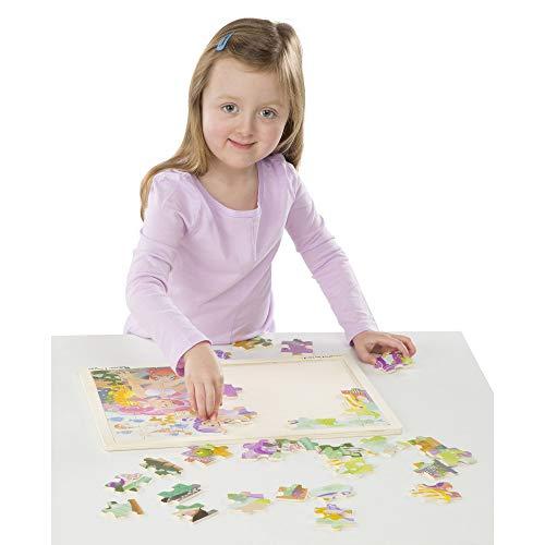 "Melissa & Doug Mermaid Fantasea Wooden Jigsaw Puzzle, Preschool, Sturdy Wooden Construction, 48 Pieces, 15.7"" H x 11.7"" W x 0.45"" L"