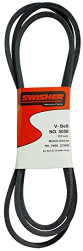 Swisher 5058 122-Inch Belt - Fits select Swisher 60-in Trailmowers and ZTR Mowers - ()