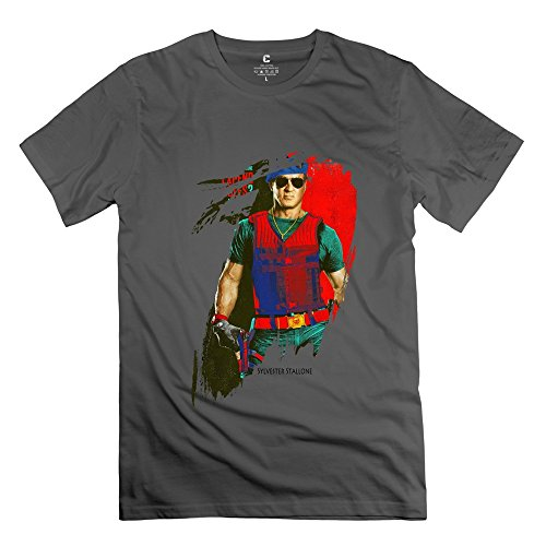 Fire-Dog Men's The Expendables Sylvester Stallone T-shirt Size M DeepHeather