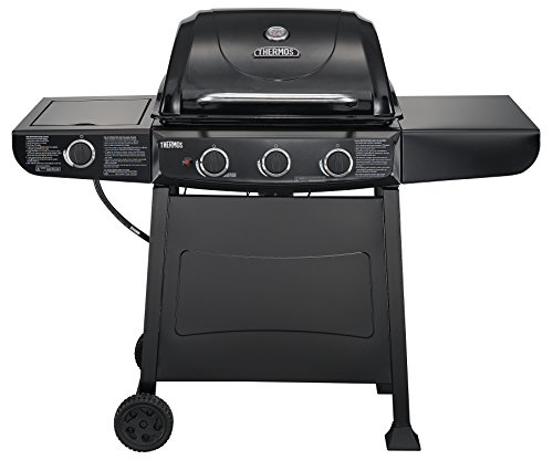 Thermos 370 3-Burner Liquid Propane Gas Grill with Side (Two Side Burners)
