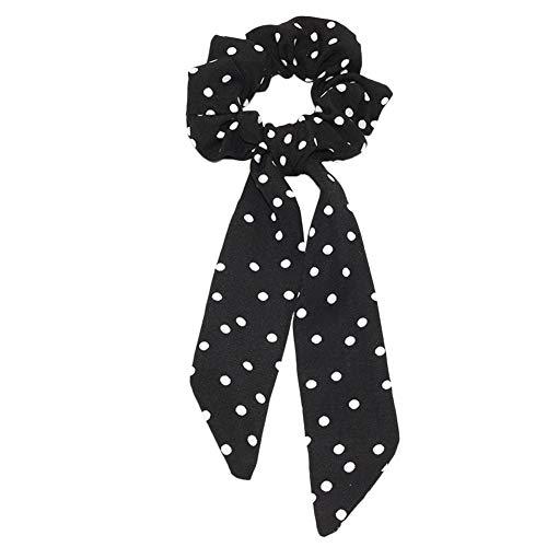 Kanggest. Panuelo para Mujer Bufandas Bowknot Vintage Color solido Las Mujeres Cinta Larga Intestino Moda Impreso Bandas elasticas para el Pelo Desmontable Bandana para Mujeres y ninas