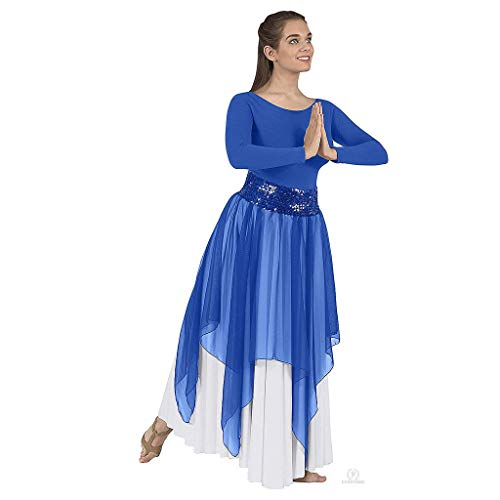 - Eurotard 39768 Adult Sheer Devotion Single Layer Overlay/Sequin Belt Sold Separately (Royal)