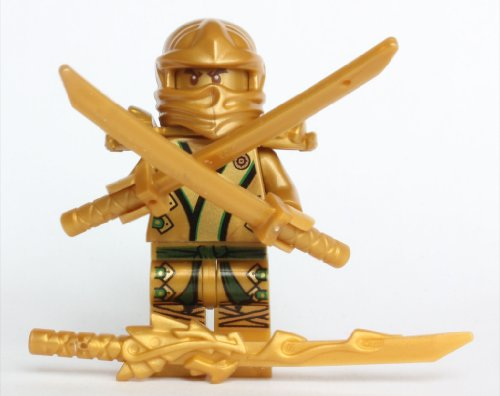The Golden Ninja (LEGO Ninjago - The GOLD Ninja with 3 Weapons)