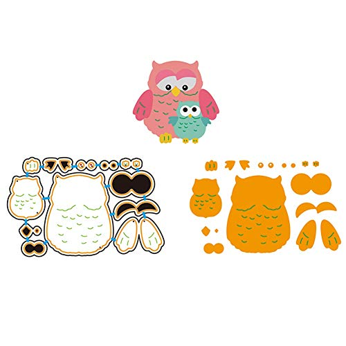 Zzeroe Cutting Dies Halloween Animal Pumpkin Embossing Stencil Template Mould for DIY Scrapbook Photo Album Embossing Craft Decoration Paper Card Making(2 Owls)]()