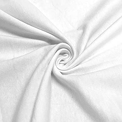 Tela elástica de punto de licra de algodón blanco de Pappermint ...