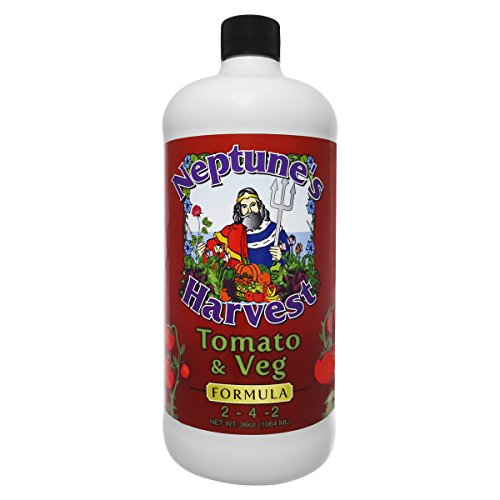 Neptune's Harvest TV136 Tomato & Veg Formula Fertilizer, 36 oz (Best Fertilizer For Tomatoes And Peppers)