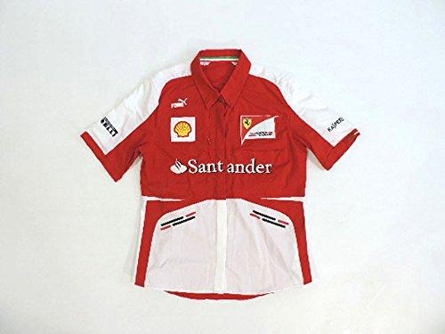 フェラーリ 2013年 支給品 ストレッチ素材 半袖 ピットシャツ レディース 女性 4/5   B074Z5GY2R
