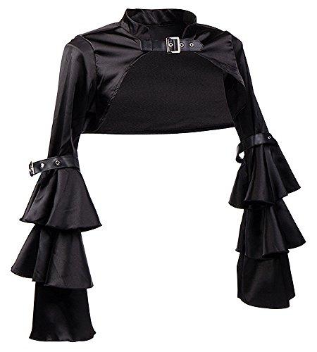 Killreal-Womens-Sexy-Steampunk-Gothic-Bolero-Long-Sleeve-Shrug-Jacket