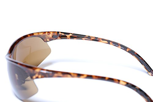 à 2 Lunettes double soleil Unisexe air lecture de de Black Lunettes plein de foyer Tortoise en nbsp;paires Sport Wrap FBn8Bt