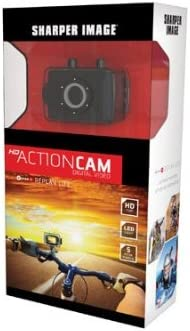 4X Zoom Sharper Image HD Action Cam SVC400 w// Waterproof Case /& Mounting Kit 5.0 MP 720P Digital Video Lithium-Ion