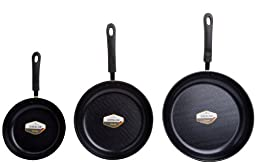 Green Earth Frying Pan 3-Piece Set by Ozeri (8\