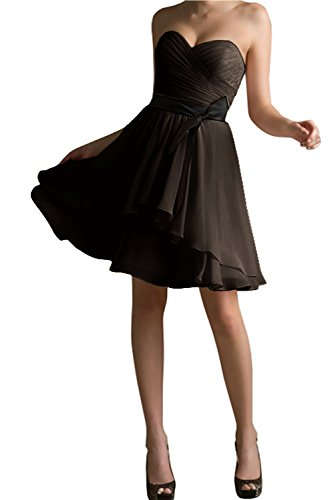 Kurz Überknie Modisch Passe Cocktailkleid Schwarz Mit Schokolade Herzform Abendkleid Partykleid Bride Gorgeous Aw677