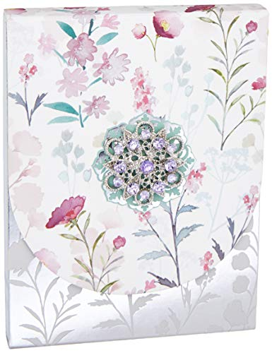 (Punch Studio Brooch Mini Note Pad with Pattern Wildflowers (43831))