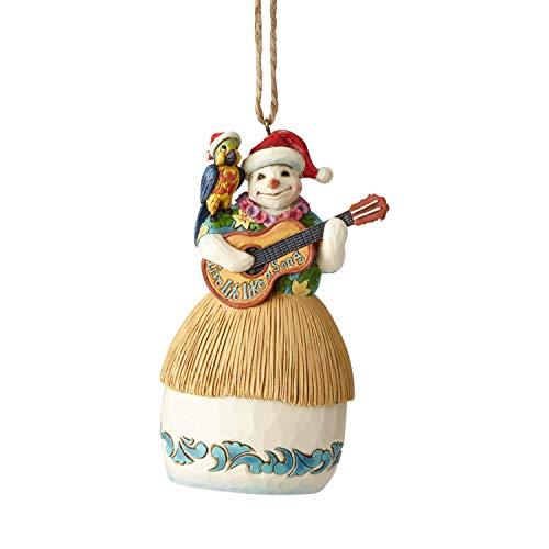 "Enesco Margaritaville by Jim Shore Guitar Snowman Hanging Ornament 4.5"" Multicolor"