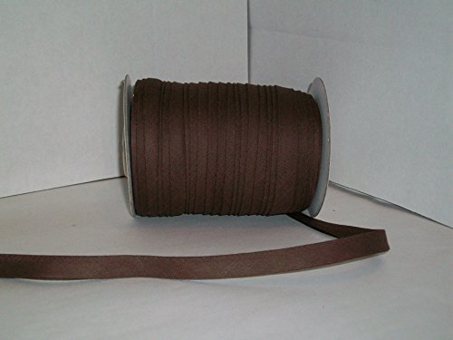 Brown Double Fold Bias Tape 50 Yds. 1/2 Inch by MJ's Crafts & More
