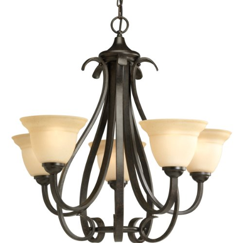 Progress Lighting P4416-77 5-Light Torino Chandelier, Forged Bronze