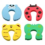 Man Friday 4pcs Toddler Baby Safety Helper Doorstops Guard Lock Stopper