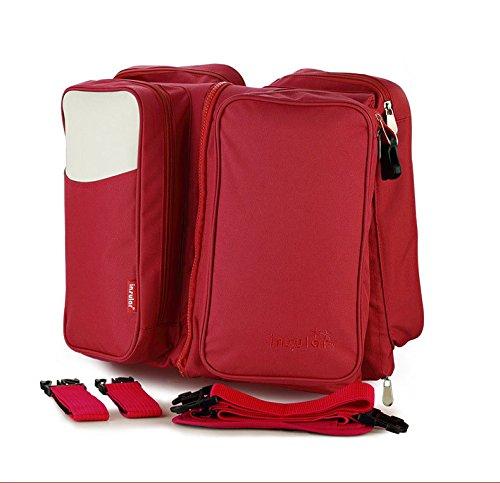 Multifunción 2en 1bebé pañales para pañales bolso cambiador de viaje para cama de bebé bolsa de pañales rojo rosso rosso