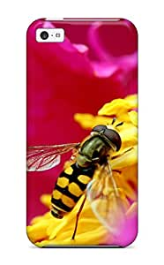Hot Awesome Defender Tpu Hard Case Cover For Iphone 5c- Bee & Flower In Hd 3532453K99304952