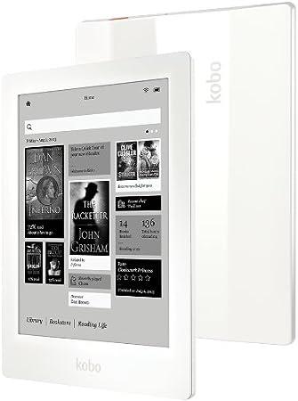 Kobo Aura HD - Lector de eBooks para microSD (pantalla táctil de 6.8, Bluetooth, altavoces incorporados), blanco: Amazon.es: Electrónica