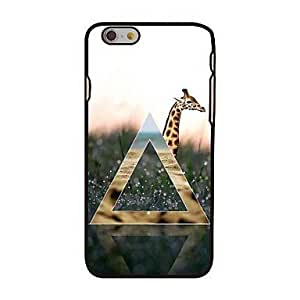 MOFY-Tri‡ngulo y estilo jirafa de pl‡stico duro de la contraportada para el iphone 6