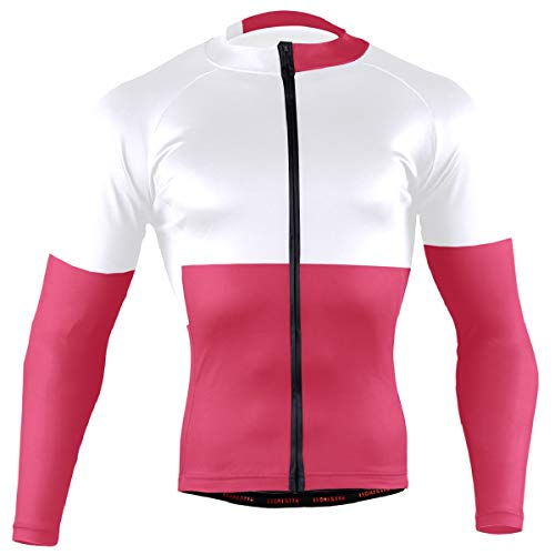 (Ainans Polish Flag Men's Cycling Jersey Long Sleeve Bike Jacket Biking Bicycle Jersey Shirt)