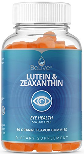 Eyes Vitamins Lutein and Zeaxanthin Supplements for Adults & Kids - Vision Support, Sugar-Free Gummies, Vegetarian Friendly, All-Natural, Kosher & Halal Certified 60 Count