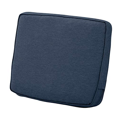 - Classic Accessories Montlake Back Cushion Foam & Slip Cover, Heather Indigo, 25x22x4