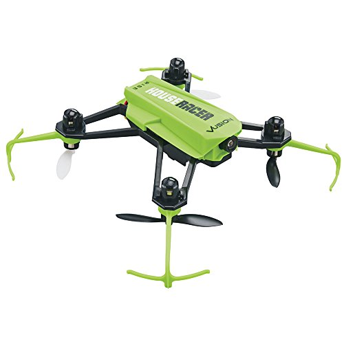 RISE Vusion House Racer Ready to Fly (RTF), First Person View (FPV), Indoor RC Complete Drone Race Pack (Quadcopter, Camera, Radio, Goggles, Monitor, Battery and USB Charger)