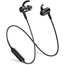 Bluetooth Headphones TaoTronics Wireless Earbuds Sports Earphones 9 Hours 4.2 Magnetic Lightweight & Fast Pairing (cVc 6.0 Noise Cancelling Mic, Snug Silicon Earbuds) - Upgraded Version