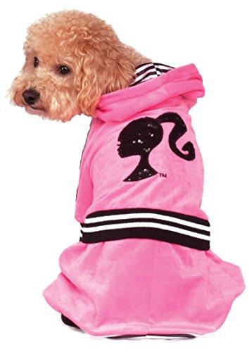 Velour Tracksuit Costume (Rubies Costume Barbie Girl Velour Tracksuit Pet Costume, Small)