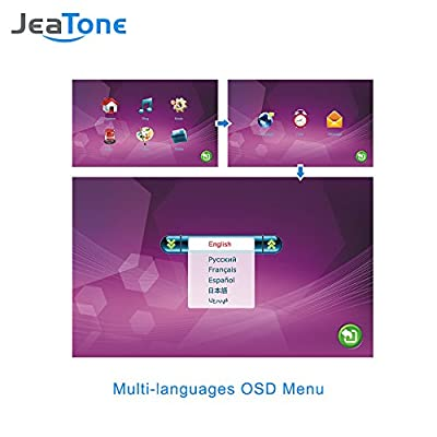 JeaTone 1.3MP Mini Camera 10 Inch Video Doorbell Intercom Home Security Camera SystemSystem …