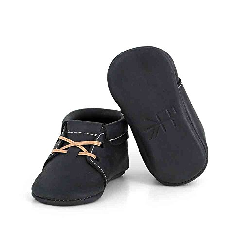 Freshly Picked - Oxfords - Soft Sole Leather Baby Moccasins Onyx - Oxford Size 1 by Freshly Picked