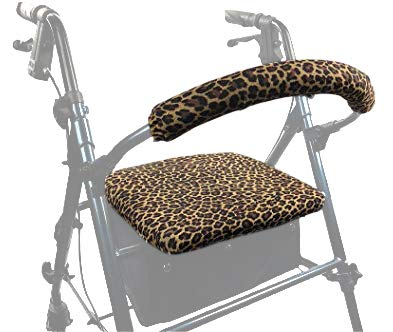 Crutcheze Leopard Rollator Walker Seat and Backrest Covers Designer Fashion Accessories Made in ()