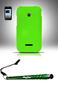 FoxyCase(TM) FREE stylus AND Huawei Inspira H867G Prism 2 II U8686 Glory H868c (T-Mobile StraightTalk) Rubberized Case Cover Protector - Neon Green RP Desire Safe Phone cas couverture