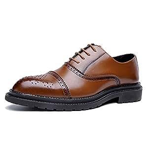f47fed0d HILOTU Zapatos de vestir Oxford para hombre Moda casual Clásico Retro  Colores de pincel Zapatos Brogue