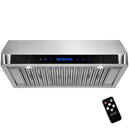 "AKDY 36"" Under Cabinet Stainless Steel Range Hood Touch Panel Control w/Remote"